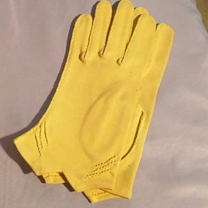 3/$20Gold knit vintage gloves hand sewn in usa